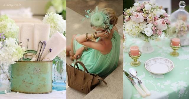 mariage tendance couleur romantique : menthe
