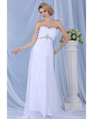 Robe de mariée plage Empire décolleté