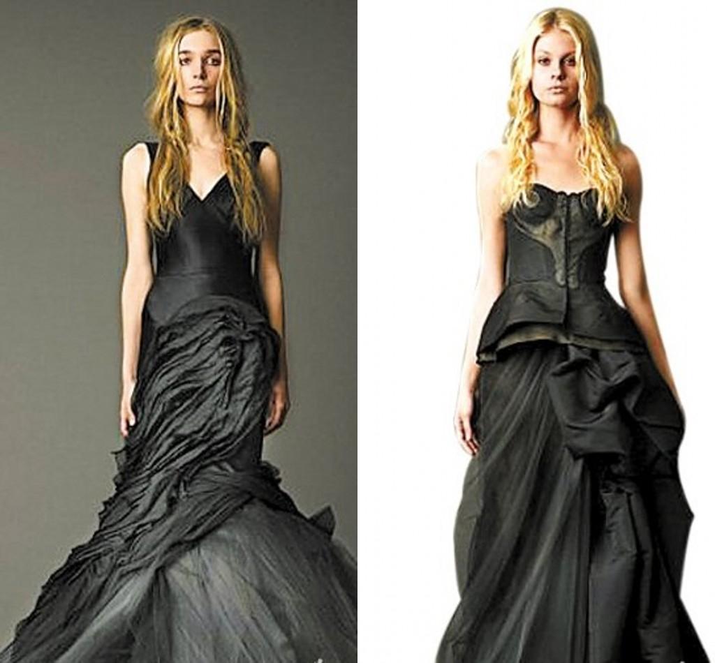 la robe de mari e noire myst rieuse chicdame. Black Bedroom Furniture Sets. Home Design Ideas