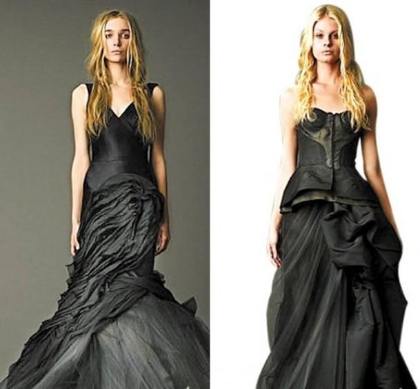 la robe de mari e noire myst rieuse chicdame On vera wang robe de mariée noire