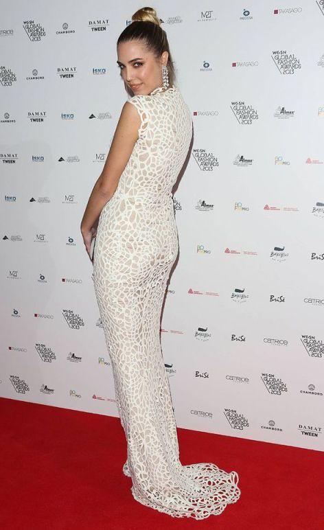 Amber Le Bon en robe longue de soirée pas cher