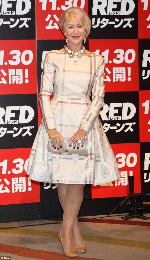 Helen Mirren dans robe de soirée chic