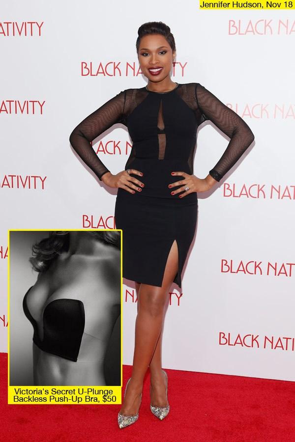 La robe de soirée noire de Jennifer Hudson