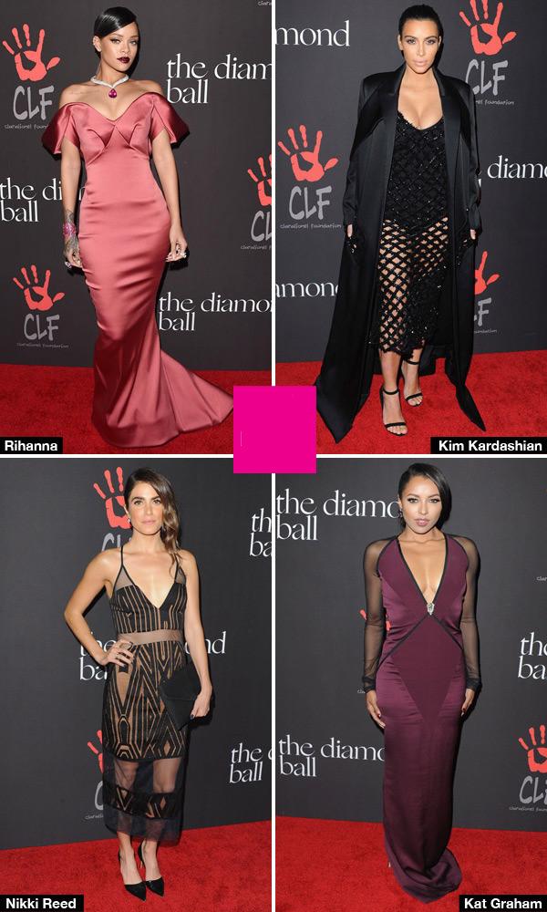 Diamond Ball Robe soirée mieux habillées Rihanna, Kim Kardashain et plus