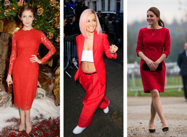 Kate Middleton, Anna Kendrick en robe rouge écarlate