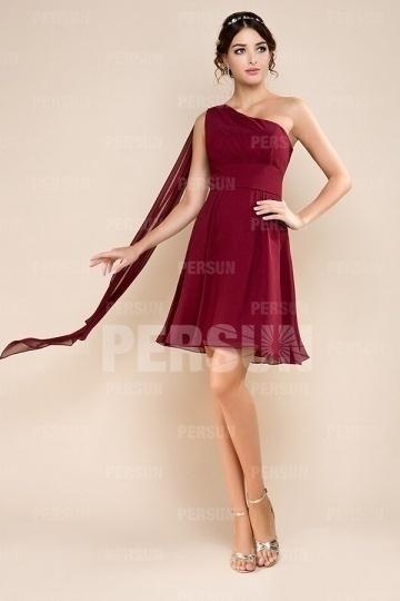 robe-courte-demoiselle-dhonneur-a-une-epaule