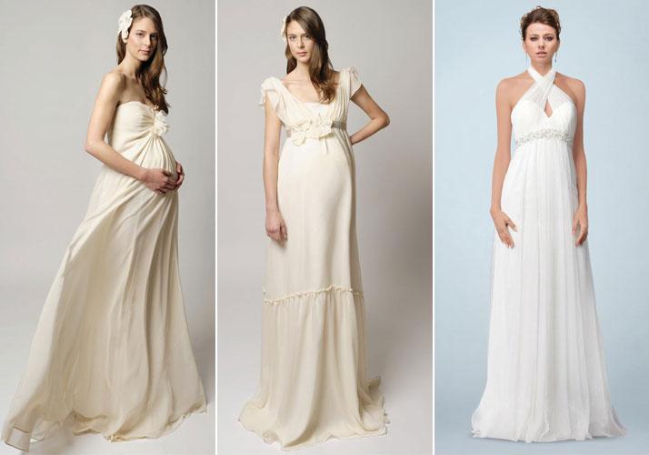 robes de mariage empire pour femme enceinte