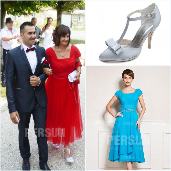 robe midi et sandale t pour mariage