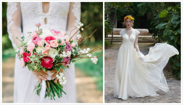 bouquet de mariage pour robe mariée boho