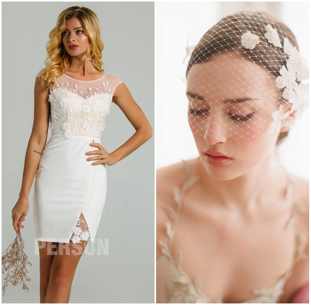 voilette vintage pour robe de mariée courte